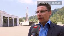 Video «Marco Huwiler über den Gasaustritt am Bohrloch» abspielen