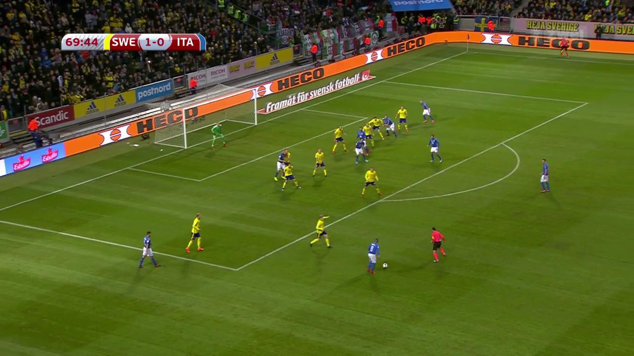 Italien nach 0:1 in Schweden unter Druck
