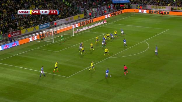 Video «Italien nach 0:1 in Schweden unter Druck» abspielen