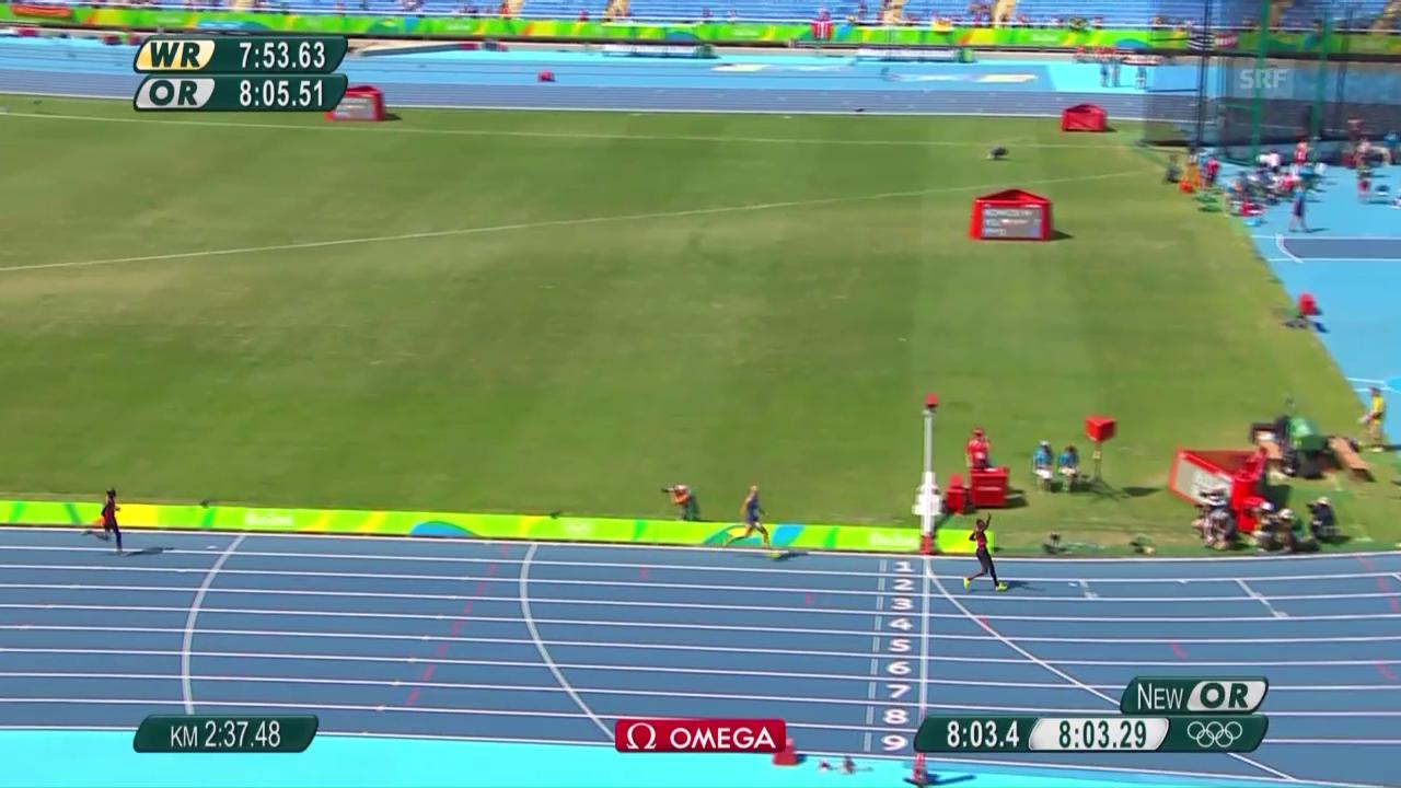 Kenianer Kipruto triumphiert im 3000 m Steeple der Männer