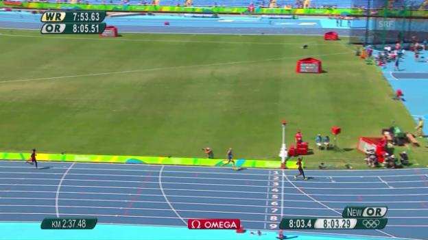 Video «Kenianer Kipruto triumphiert im 3000 m Steeple der Männer» abspielen