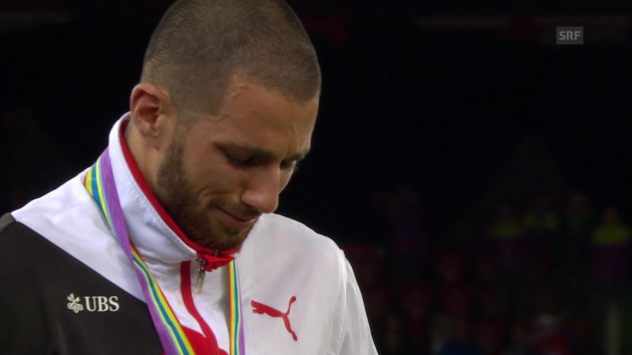Leichtathletik-EM: Die Siegerehrung mit Kariem Hussein