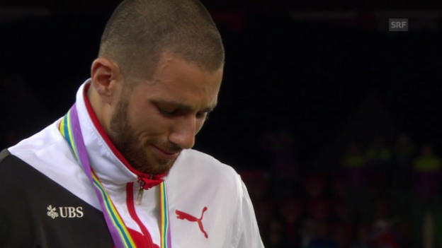 Video «Leichtathletik-EM: Die Siegerehrung mit Kariem Hussein» abspielen