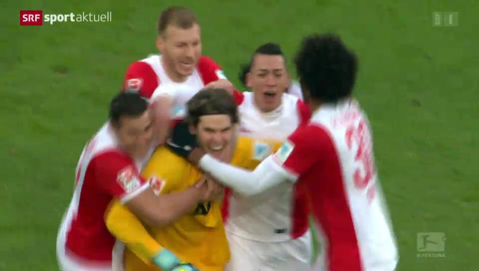 21.2.15: Marwin Hitz schiesst den FC Augsburg zum Remis