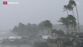 Video «Zerstörerischer Taifun auf den Philippinen» abspielen