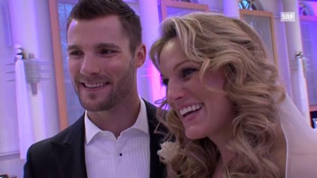 Video «Martin Tomczyk und Christina Surer über ihre Hochzeit und ihr Baby» abspielen