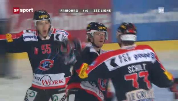 Video «Eishockey: Fribourg-ZSC Lions» abspielen