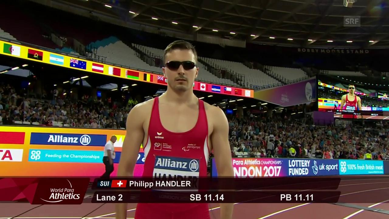 Handler über 100 m Siebter, Rahmani über 400 m Vierte