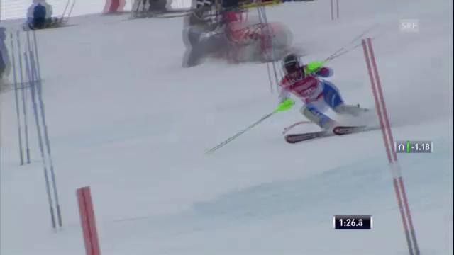 Ski: Superkombination Méribel, Slalom von Andrea Dettling