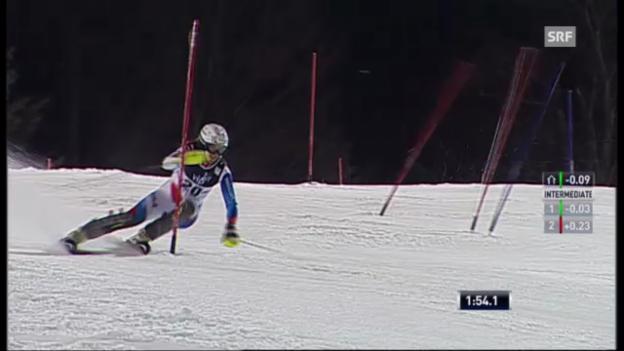 Video «Slalom Zagreb: 2. Lauf Holdener» abspielen