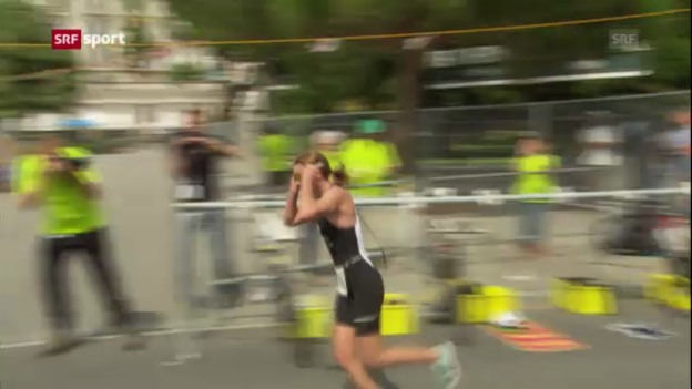 Video «Triathlon: Nicola Spirig siegt in Lausanne» abspielen