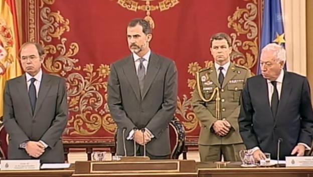 Video «Prinz Felipe gedenkt im spanischen Senat (unkommentiert)» abspielen