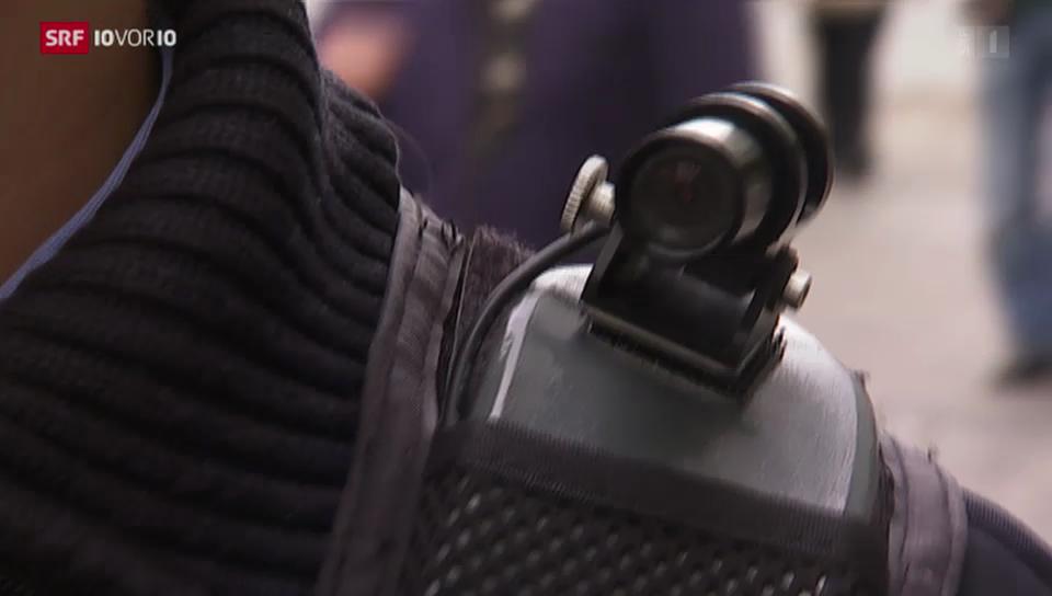 Berner Polizisten in Zukunft mit Kamera?