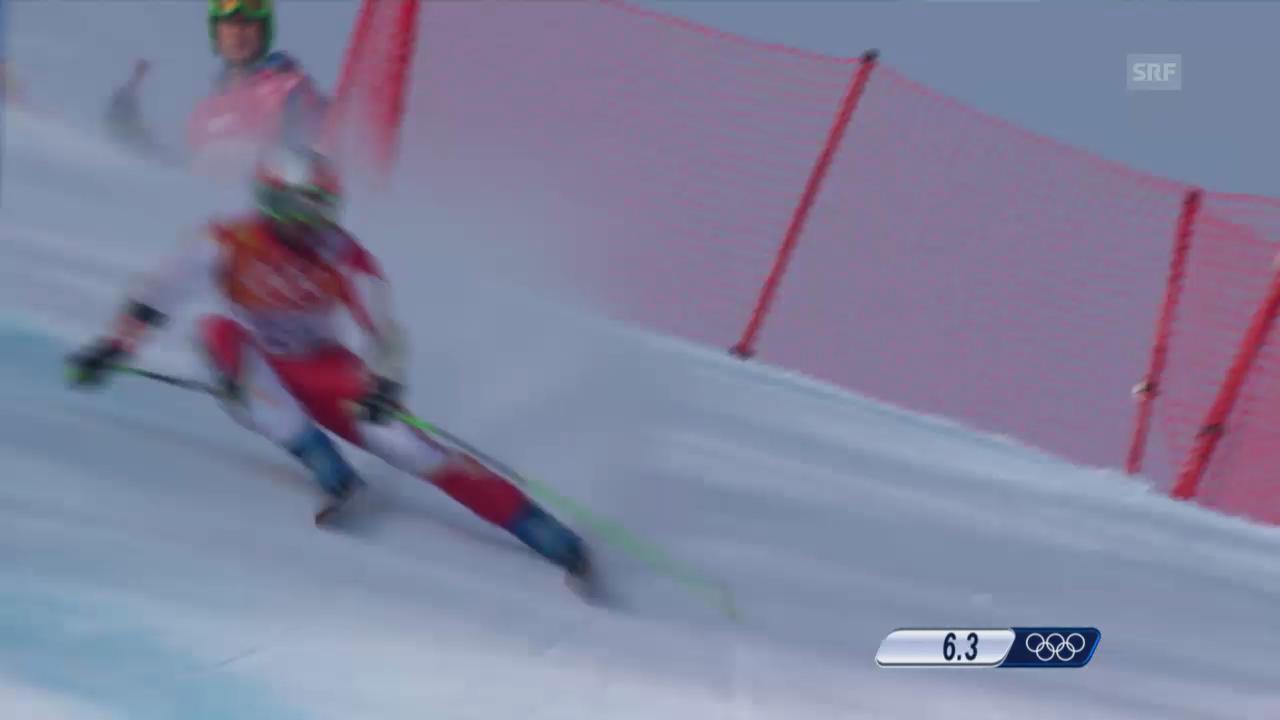 Ski, Super-G, Fahrt von Jan Hudec (sotschi direkt, 16.02.14)