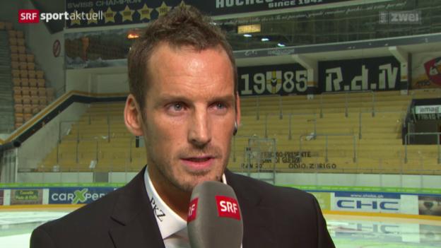 Video «Eishockey: Interview mit Lugano-Coach Patrick Fischer» abspielen