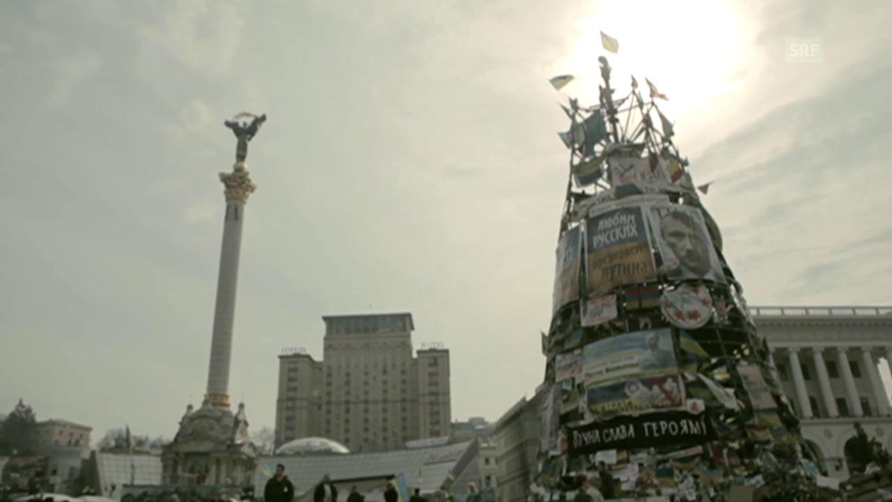 Protest auf dem Maidan: «Wir bleiben stark!»