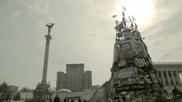 Video «Protest auf dem Maidan: «Wir bleiben stark!»» abspielen