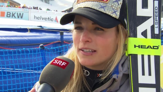 Video «Interview mit Lara Gut nach Rang 5 in Lenzerheide» abspielen