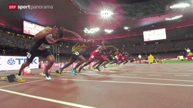 Video «Leichtathletik: WM in Peking, 100-m-Final der Männer» abspielen