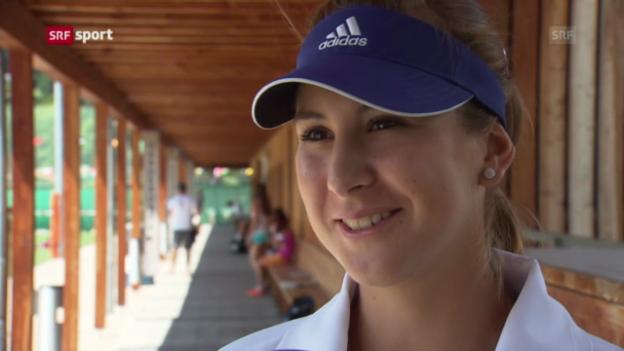 Video «Belinda Bencic - Die Tennis-Hoffnung vor einer grossen Zukunft» abspielen