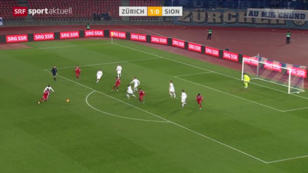 Video «Fussball: SL, FC Zürich - Sion» abspielen