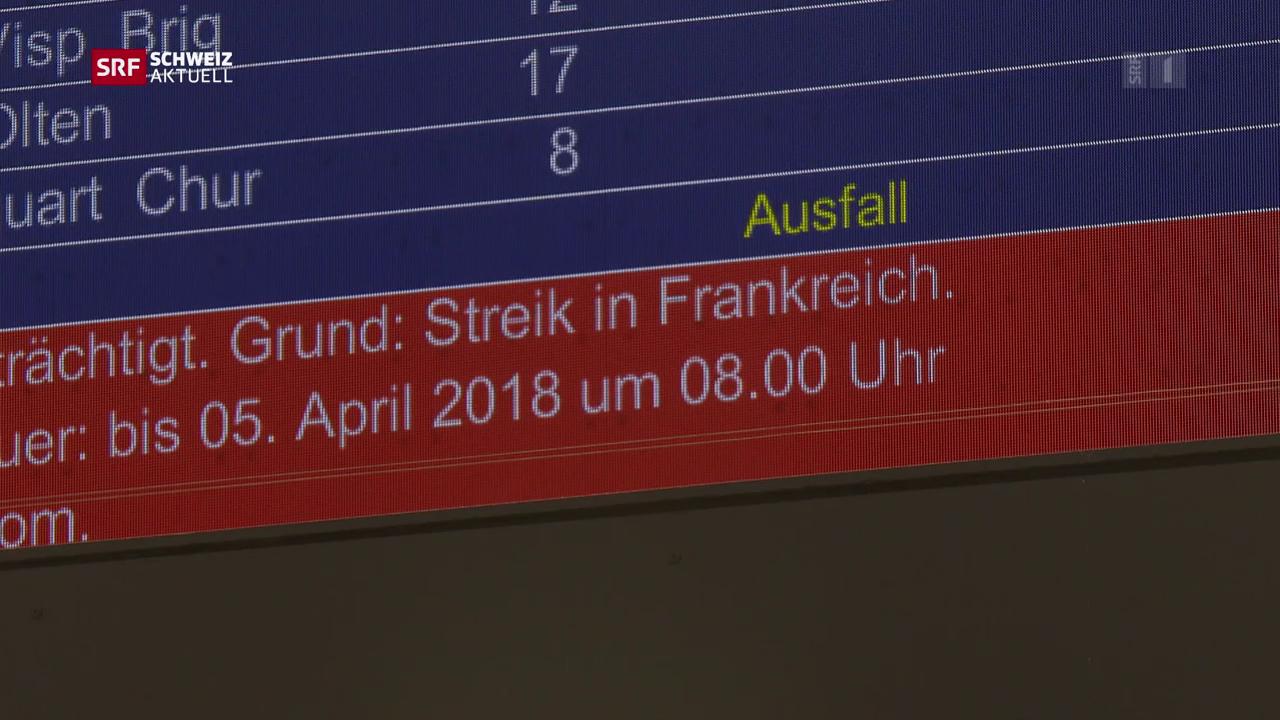 Gestrandete Passagiere in Basel