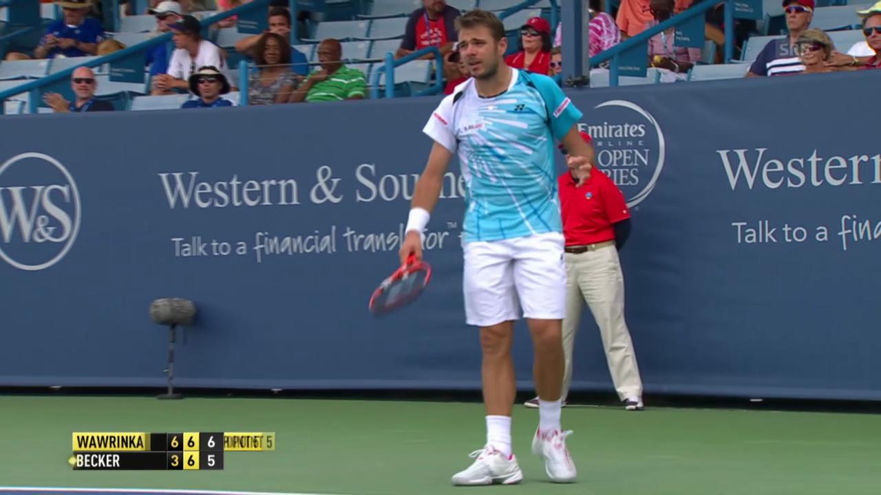 Tennis: Cincinnati, Wawrinka - Becker