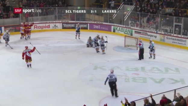 Video «SCL Tigers - Lakers» abspielen