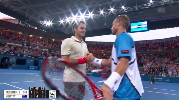 Video «Tennis: Roger Federers Auftritt in Brisbane 2014» abspielen