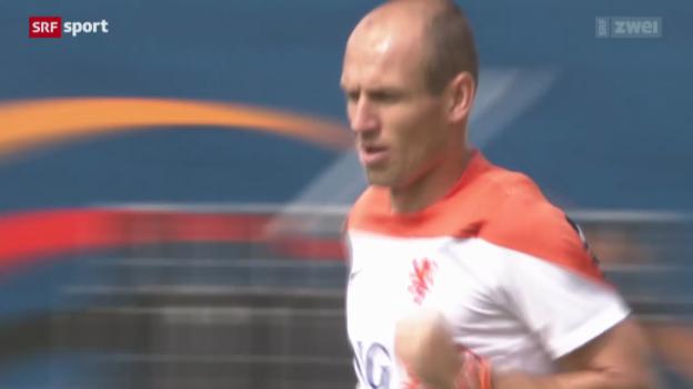 Video «Robben ist gegen Costa Rica voller Tatendrang» abspielen
