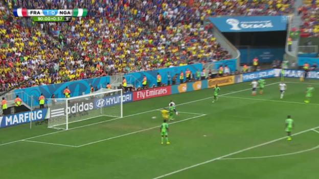 Video «Frankreich - Nigeria: Beide Treffer» abspielen