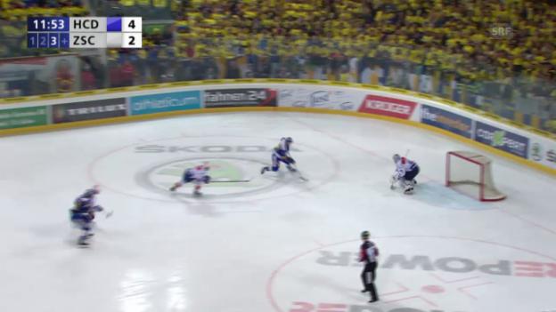 Video «Eishockey: Playoff-Final, HCD - ZSC Die Tore aus Spiel 2» abspielen