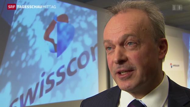 Video «Swisscom mit durchzogener Bilanz 2013» abspielen
