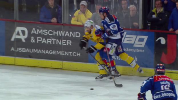 Video «Eishockey: NLA-Playoff-Final, 1. Spiel, ZSC - HCD» abspielen