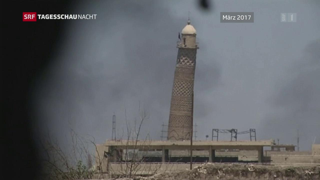 Grosse Moschee in Mossul gesprengt