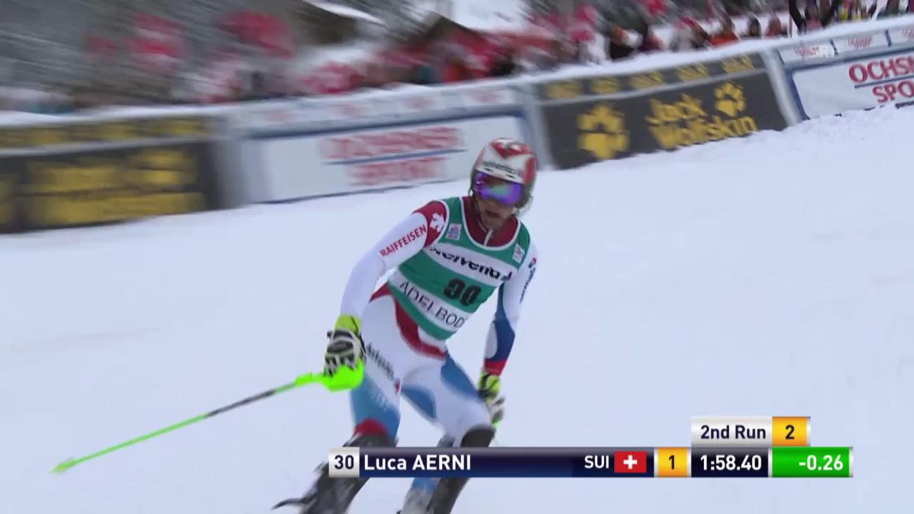 Ski: Slalom Adelboden, 2. Lauf Aerni