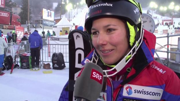 Video «Ski: Weltcup Frauen, Slalom Are, Interview mit Wendy Holdener» abspielen