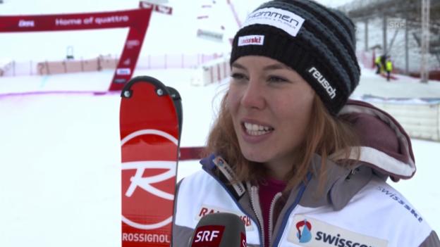 Video «Ski Alpin: Slalom Lienz, Interview Gisin» abspielen