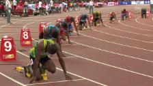 Video «LA: Vorlauf 200m, Usain Bolt» abspielen