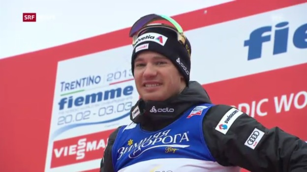 Video «Dario Cologna holt WM-Gold «sportaktuell»» abspielen