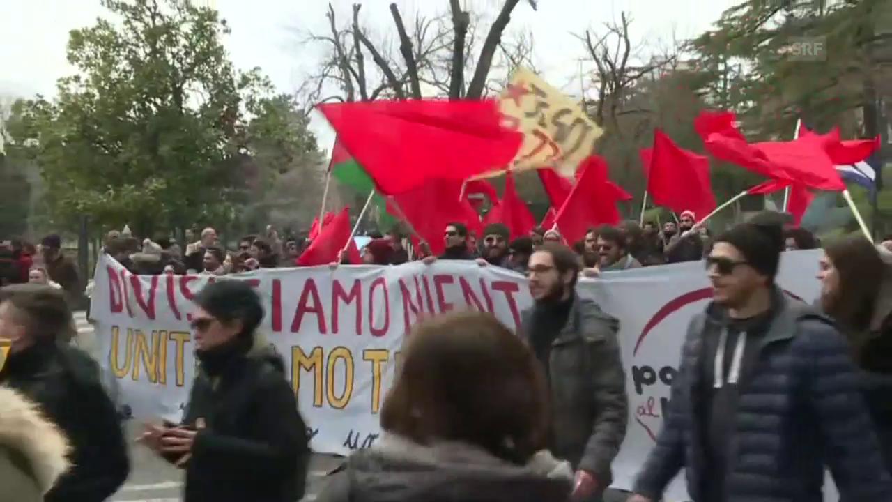 Marsch gegen Rassismus in Macerata
