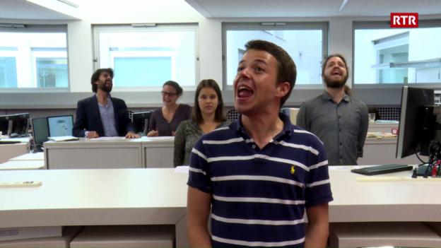 Laschar ir video «Bohemian Rapsody - emprova da lipsinc da redacturs da RTR»