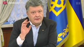 Video «Poroschenko zur Lage in der Ostukraine» abspielen