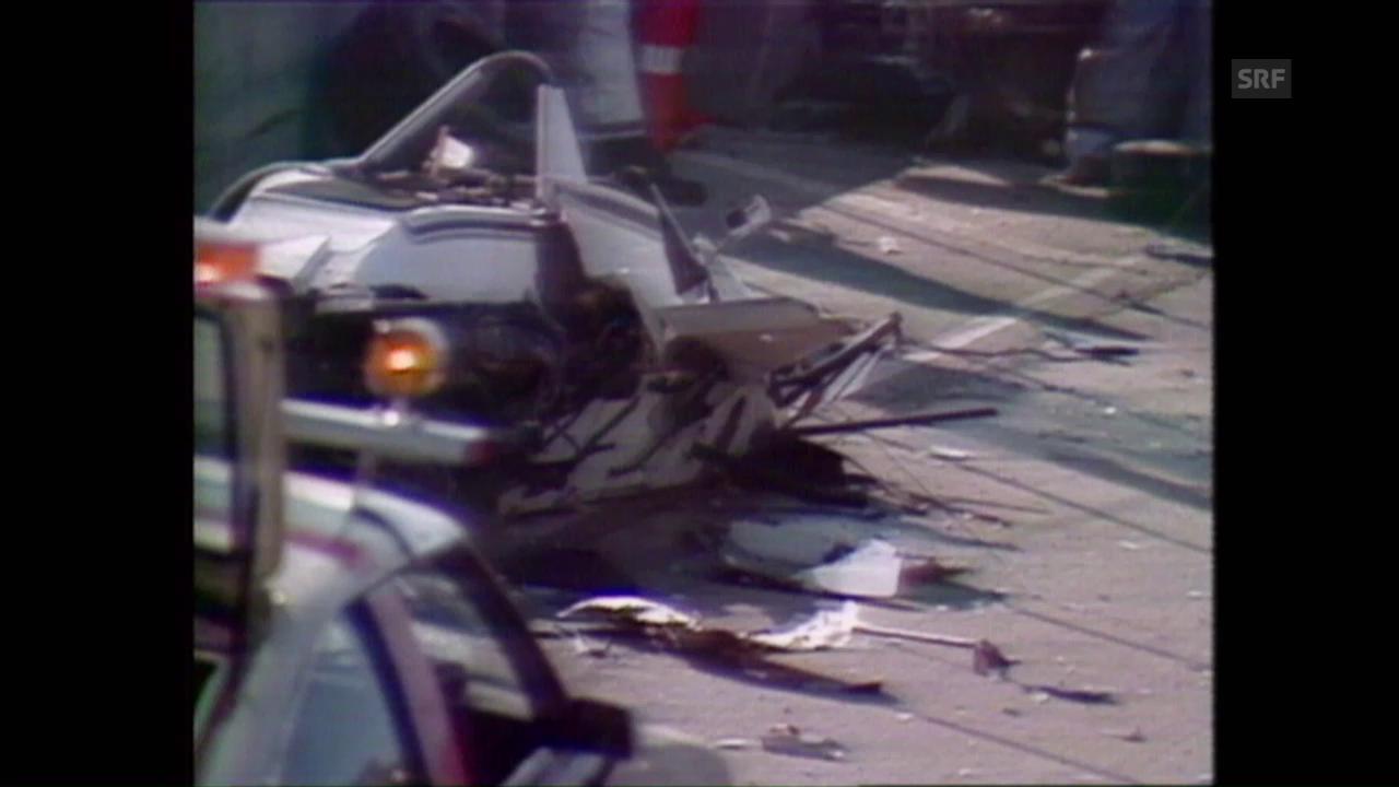 Regazzonis Unfall in Long Beach (Ausschnitt aus DOK)