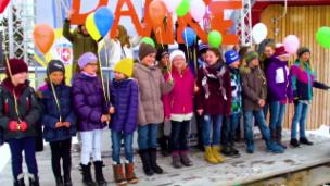 Video «Die Singschule Chur bedankt sich bei Aroser Skilehrer» abspielen