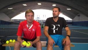 Video «Werden Büssi und Manu Roger Federers Balljungen?» abspielen
