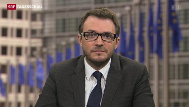 Video «So reagiert Brüssel auf Tsipras' Moskau-Besuch» abspielen