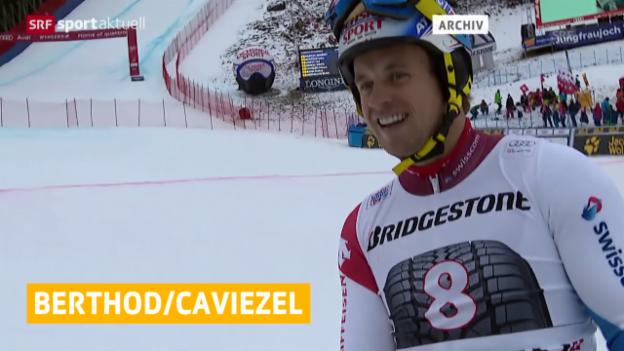 Video «Berthod und Caviezel fahren in diesem Winter keine Rennen mehr» abspielen