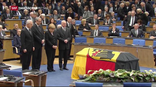 Video «Staatsakt für Hans-Dietrich Genscher» abspielen