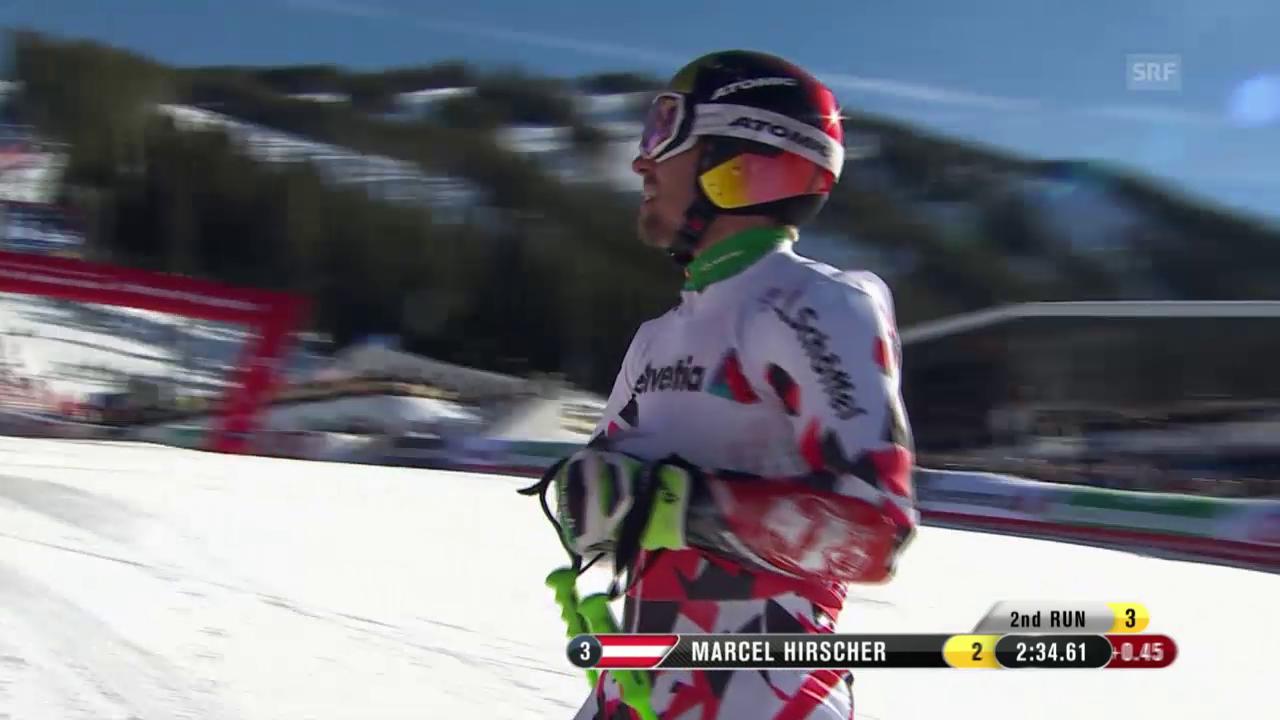 Ski alpin: WM in Vail/Beaver Creek, Riesenslalom der Männer, Hirschers Fahrt zu Silber